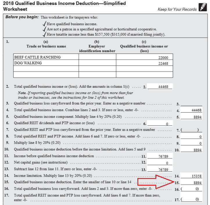 form 1040 qualified business income deduction  Questions and Answers For Tax Professionals